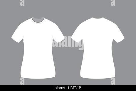 eine Vektor-Karikatur aus weißer Baumwolle Mann T-shirt Vorlage auf ...