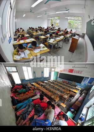 Bande, der chinesischen autonomen Region Guangxi Zhuang. 20. Sep, 2016. Foto zeigt Schüler mit Klasse in der neuen - Stockfoto