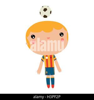 Abbildung Von Kleinen Kind Fussball Madchen Einen Soccer Ball