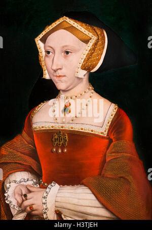 Jane Seymour (1508-1537), dritte Ehefrau von König Henry VIII von England, durch die Werkstatt von Hans Holbein - Stockfoto
