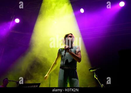 BARCELONA - 29 Mai: Ariel Pink (Künstler) im Konzert im Primavera Sound Festival 2015 am 29. Mai 2015 in Barcelona, - Stockfoto