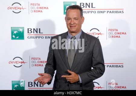 Rom, Italien. 13. Oktober 2016. Tom Hanks Rom 13. Oktober 2016. Rome Film Fest XI Ausgabe. Foto Samantha Zucchi - Stockfoto