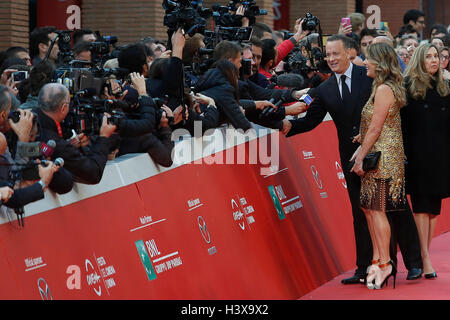 Tom Hanks mit seiner Frau Rita Wilson Rome 13. Oktober 2016. Rome Film Fest XI Ausgabe. Foto Samantha Zucchi Insidefoto - Stockfoto
