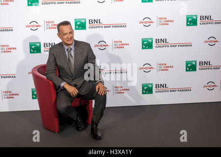 Rom, Italien. 13. Oktober 2016. Tom Hanks nimmt an einem Fototermin während der 11. internationalen Filmfestival - Stockfoto