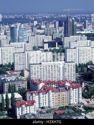 Polen warschau zentrum b rohochhaus warshaw trade tower warschau hauptstadt hausfassade - Architektonische hauser ...