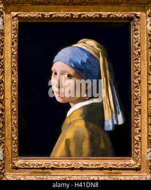 Johannes Vermeer Junge Frau Mit Einer Perle Halskette