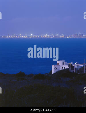 Spanien, die Balearen Insel Mallorca, S'Arenal, Playa de Palma, Blick auf die Stadt, Nacht, Europa, Südwesteuropa, - Stockfoto