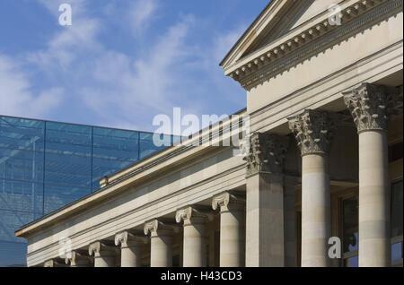 Deutschland, Baden-Wurttemberg, Stuttgart, Königstraße, Königs Bau, Kunstmuseum, Fassaden, Detail, - Stockfoto