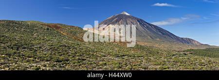 Spanien, Kanarische Inseln, Teneriffa, Pico del Teide, Vulkan, - Stockfoto