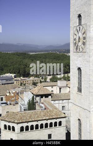 Parc De La Devesa, Palast Pia Almoina, Girona, Costa Brava, Katalonien, Spanien, Sommer, Tourismus, Reisen, Urlaub, - Stockfoto