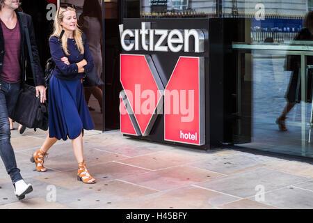 Citizen M Hotel Logo, London, England, U.K - Stockfoto