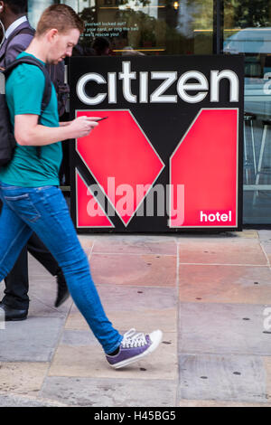 Citizen M Hotel Logo, London, England, U.K - Stockfoto