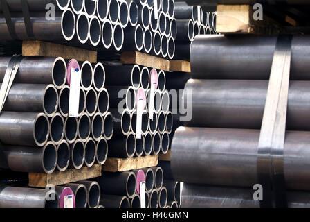 Rohr, Fabrik, Geschäft, Röhren, gestapelt, - Stockfoto