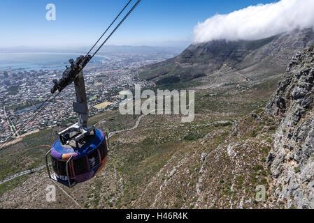 Seilbahn auf den Tafelberg, Kapstadt, Western Cape, Südafrika, Afrika - Stockfoto