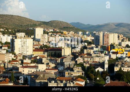 Kroatien, Dalmatien, Sibenik, Blick von der Burg auf die Stadt, - Stockfoto