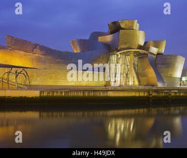 Guggenheim (Museum), Rio Ibaizabal, Bilbao, die baskischen Provinzen, Spanien - Stockfoto