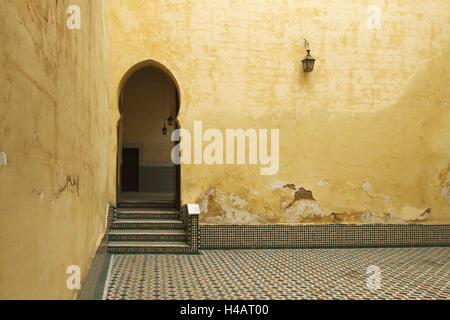 Afrika, Marokko, Meknes, Mausoleum des Moulay Ismail,