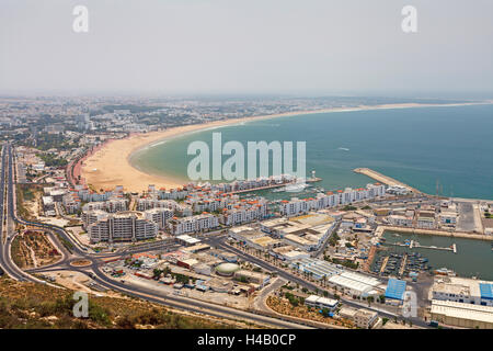 Draufsicht Agadir, Marokko, Afrika - Stockfoto