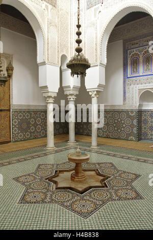 Afrika, Marokko, Meknes, Mausoleum des Moulay Ismail, - Stockfoto