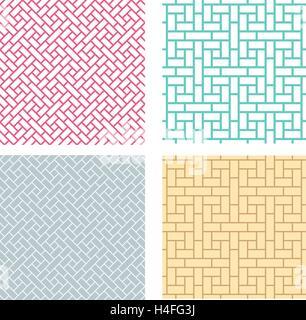 Nahtlose geometrische Muster im chinesischen Stil, Vektor - Stockfoto
