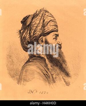 Baron Dominique Vivant Denon (Französisch, 1747 1825), Profil Head of Oriental mit Turban, Lithographie 1820, - Stockfoto