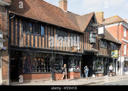 Fachwerk-Lion & Lamb House, Weststraße, Farnham, Surrey, England, Vereinigtes Königreich - Stockfoto