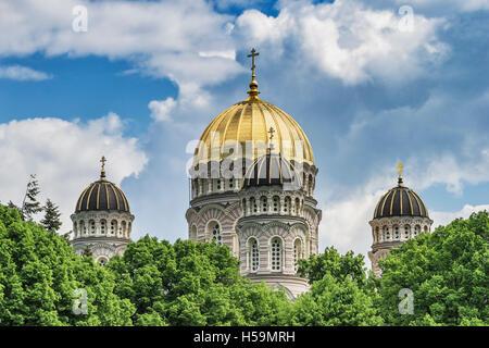 Die Geburt von Christ Cathedral ist eine russisch-orthodoxe Kirche in Riga, Lettland, Baltikum, Europa - Stockfoto