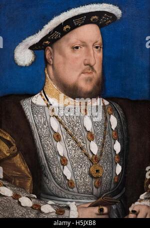 Hans Holbein der jüngere (1497/98-1543), Porträt von König Heinrich VIII. (1491-1547), ca. 1534-1536. - Stockfoto
