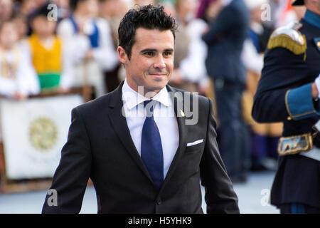 Oviedo, Spanien. 21. Oktober 2016. Javier Gomez Noya während der Eröffnung an der Zeremonie der Prinzessin von Asturien - Stockfoto