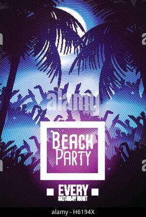 Sommer Strand Party Flyer Vorlage - Vektor-Illustration Vektor ...