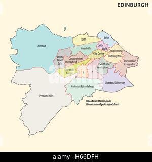 schottland landkarte mit hauptstadt edinburgh nationale grenzen und st dte stockfoto bild. Black Bedroom Furniture Sets. Home Design Ideas