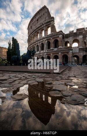 Kolosseum oder Kolosseum, Rom, Latium, Italien - Stockfoto