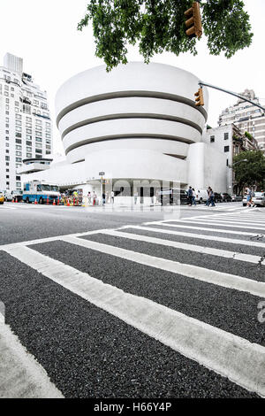 Solomon R. Guggenheim Museum, moderne Kunst, 5th Avenue, Upper East Side, Manhattan, New York City - Stockfoto