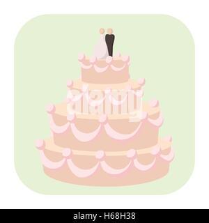 Hochzeitstorte-Cartoon-Symbol - Stockfoto