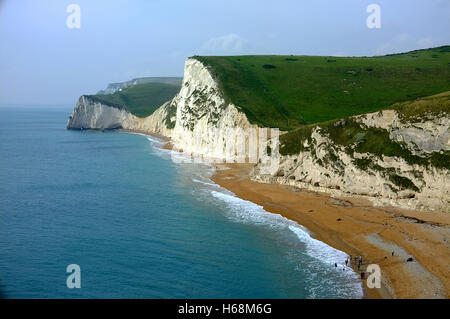 Jurassic Coast in der Nähe von Durdle Door, Dorset, England - Stockfoto