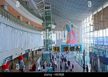 Airport Express Station Central in Hong Kong Insel China - Stockfoto
