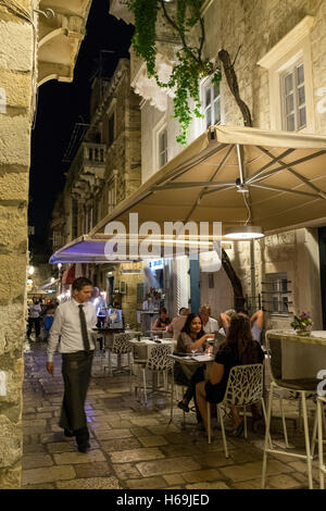 Szene in das UNESCO-Weltkulturerbe der Altstadt von Dubrovnik an der dalmatinischen Küste in Kroatien. - Stockfoto