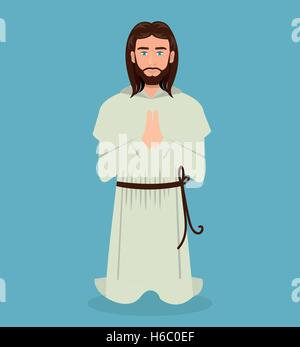 Jesus Christus Gebet kniend design - Stockfoto