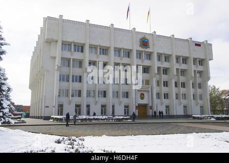 Wladikawkas, Russland. 27. Oktober 2016. Das Rathaus in Wladikawkas, der Hauptstadt der Republik Nord-Ossetien Alania. - Stockfoto