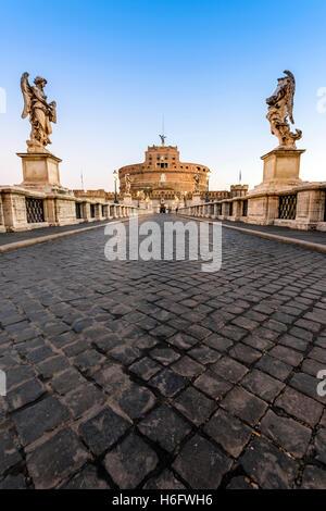 Die Engelsburg oder Mausoleum des Hadrian, Rom, Latium, Italien - Stockfoto