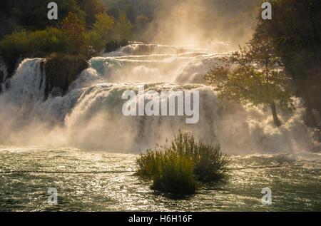 Skradinski Wasserfall, Nationalpark Krka, Kroatien - Stockfoto