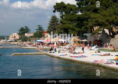 Strand, Novigrad, Istrien, Kroatien, Europa - Stockfoto