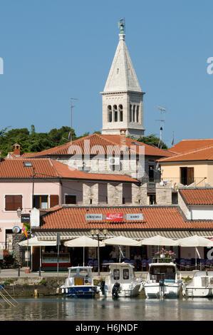 Altstadt und Hafen von Novigrad, Istrien, Kroatien, Europa - Stockfoto