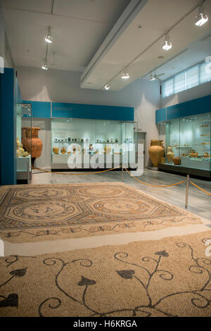 Griechenland, Kreta, Heraklion, Archäologisches Museum, Mosaikfussböden - Stockfoto