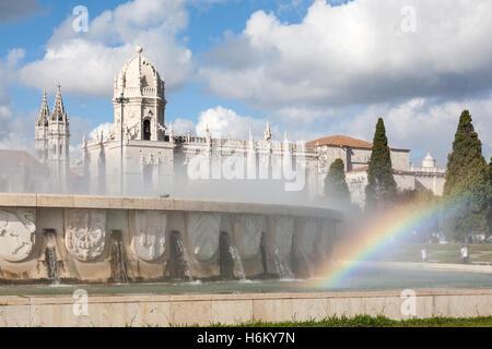 Das Hieronymus-Kloster aka Hieronymus-Kloster, Belem, Lissabon, Portugal - Stockfoto