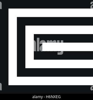 Ungewöhnliche geometrische Buchstabe C. Architektur-Vektor-Logo. Isolierte Monogramm. - Stockfoto