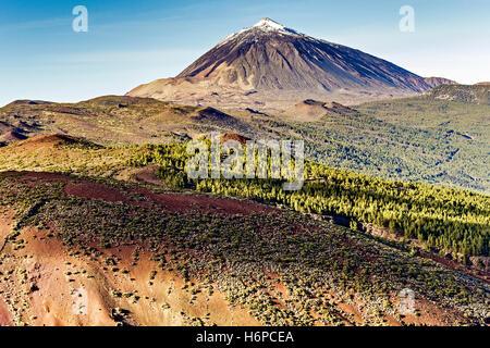 Gipfel des Mount Teide Teneriffa Kanarische Inseln - Stockfoto