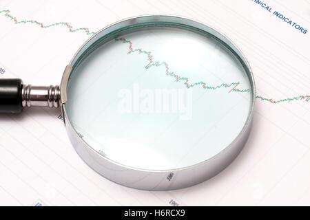 Statistik Grafik mit Lupe Vektor Abbildung - Bild: 155659986 - Alamy