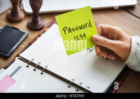 Passwort Schutz sicher Sicherheitskonzept - Stockfoto