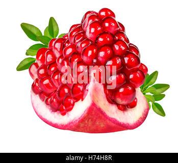 Granatapfel isoliert auf weißem Hintergrund - Stockfoto